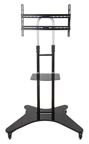 """Elitech LCD LED TV Cart Mobile Stand for 32"""" to 60"""" TV with Middle Shelf"""