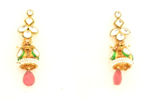 Fashion Balika Fashion Jewelry Gold-Plated Dangle & Drop Earring For Women Gold-BFJER016 (Yellow)