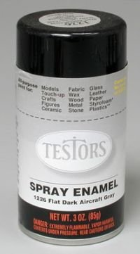 Flat Dark Aircraft Grey Enamel Paint 3oz Spray Can
