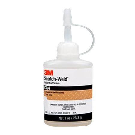 Scotch-Weld&Trade Medium Viscosity Instant Adhesive - 2 Gram With White Earbud Headphones