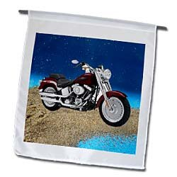 3dRose fl_ 4851_1 Harley-Davidson Motorcycle Picture Garden Flag