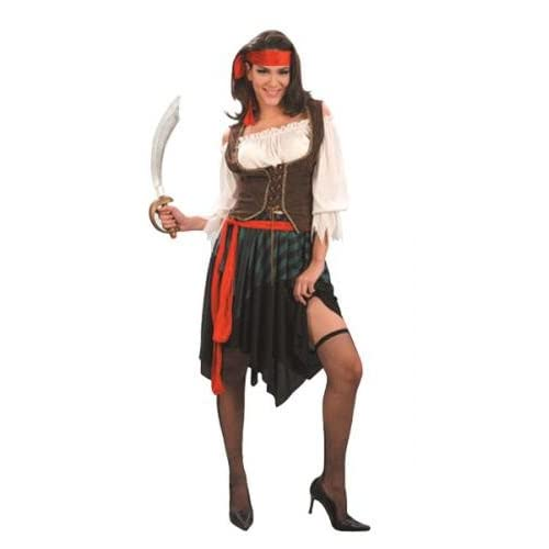 Caribbean Pirate Lady Fancy Dress Costume