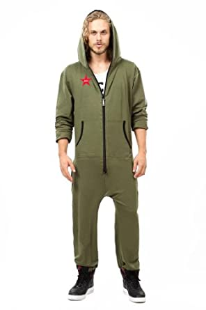 Ccr brand adult men 39 s classic onesie one piece with hoodie for Mens dress shirt onesie