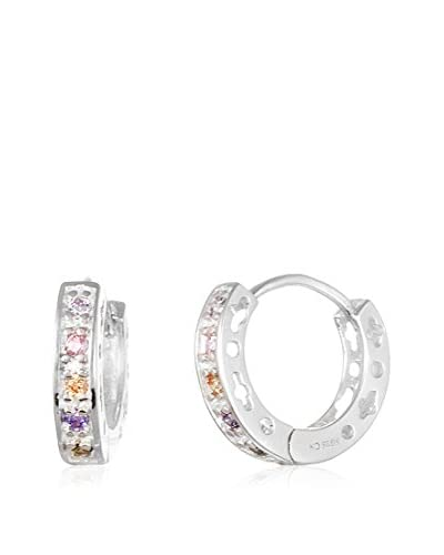 Annabella Lilly Sterling Silver Multi-Colored Swarovski Elements Earrings As You See