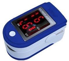 Biosync Pulsioxímetro y monitor de frecuencia cardíaca con las instrucciones en inglés, alemán y francés, cordón y bolsa de transporte - azul oscuro