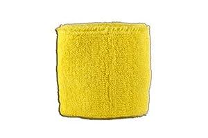 Digni® Poignet éponge avec drapeau Unicolore Jaune, pack de 2