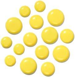 Doodlebug Design 18 piezas Bumblebee Chunky clavitos, Amarillo