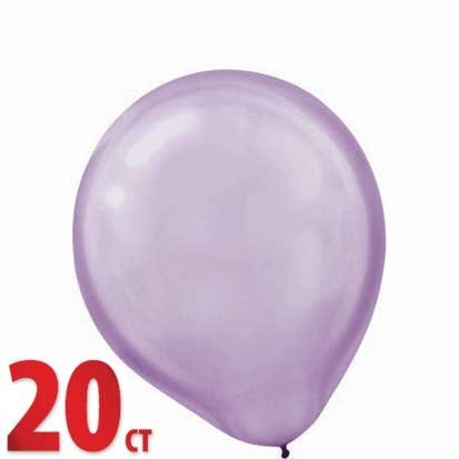 Lavender Pearl 12in Latex Balloons 10ct - 1