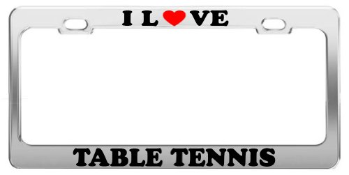I Love TABLE TENNIS Sports Olympics License Plate