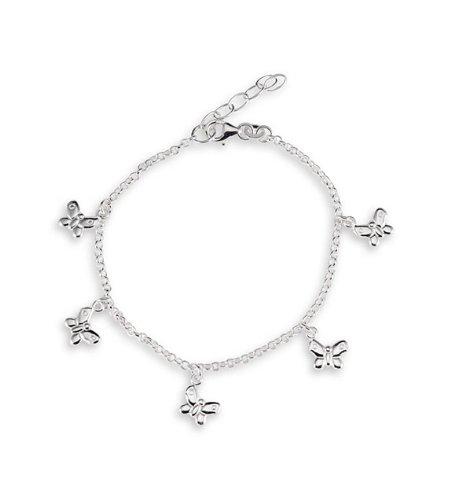 Butterfly Charm 925 Sterling Silver Ankle Bracelet