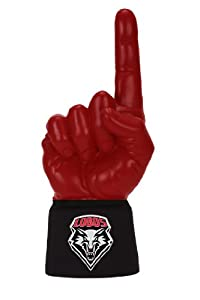 NCAA New Mexico Lobos Licensed Foam Finger with Jersey Sleeve, Scarlet Black by UltimateHand