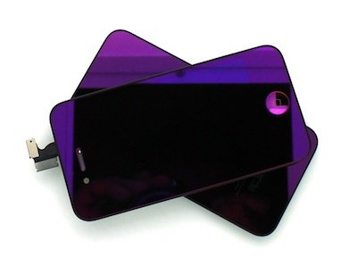 Iphone 4S Retina Lcd Digitizer Full Repair/Replacement Kit Back Cover/ Warranty (Purple Mirror)