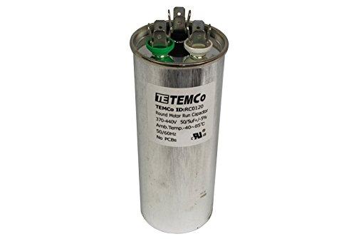 TEMCo Dual Run Capacitor RC0120 - 50/5 mfd 370 V 440 V VAC volt 50/5 uf AC Electric Motor HVAC (Hvac Dual Capacitor compare prices)