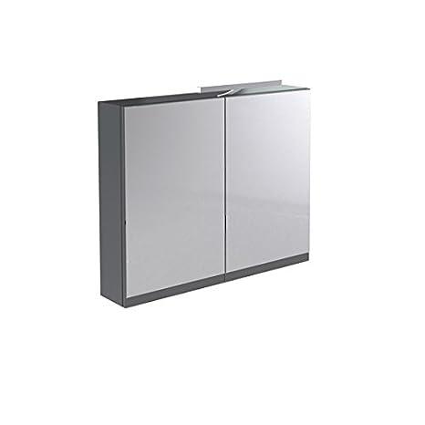 Kartell Ikon armadietto a specchio a parete, Legno, Grey, 660mm x 800mm x 150mm Grey