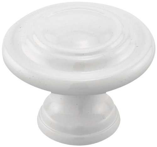 Prime-Line Products N 7439 Bi-Fold Door Knob, 1-11/16 in. Outside Diameter, Diecast, White (Bifold Door Knobs compare prices)