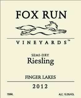 2012 Fox Run Vineyards Semi-Dry Riesling 750 Ml