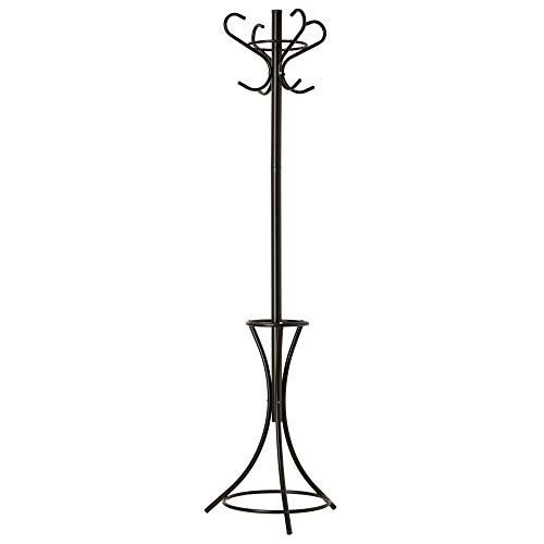 GrayBunny GB-6808 Metal Coat Rack, Hat Stand, Umbrella Holder, Hall Tree, Black, For Home or Office 0