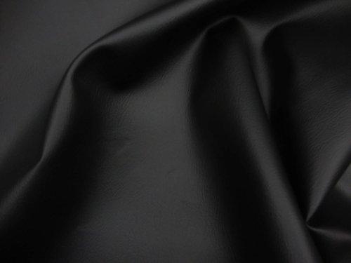 black-2-way-stretch-upholstery-faux-leather-vinyl-fabric-per-yard