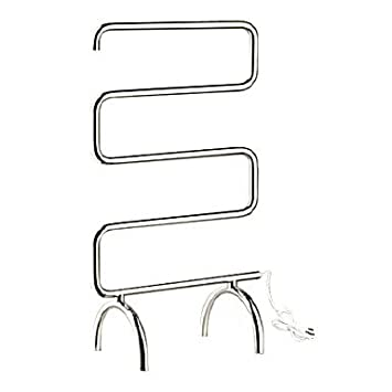60W Mirror Finish Circular Tube Towel Warmmer Drying Rack