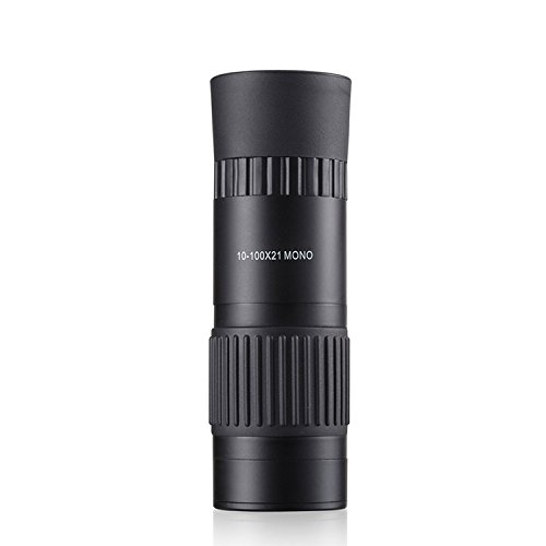 Aenmil® Super Clear Outdoor 10-100x21 Dual Focus Single-Tube Telescope Monocular, Night Vision Monocular Telescope Tripod, 66M/ 8000M