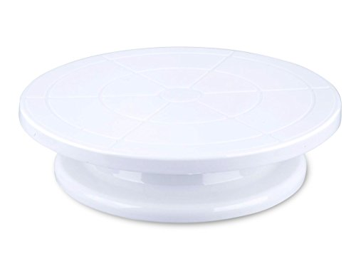 Beautiful White Turntable Decorating Cake Stand - Cake Pastry Cupcake Decorative Round Display Stand For Weddings, Holidays, Parties - White - 11.3 X 11.1 X 3 inches (Miniature Punch Bowl compare prices)