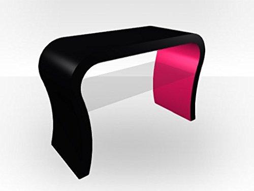 Curva esterna-Supporto per TV, colore: nero Pink Gloss