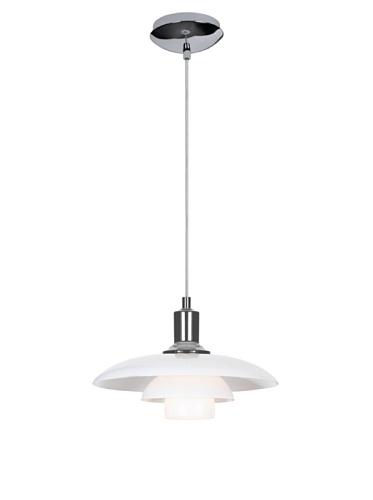 Kirch & Co. Herlev Ceiling-Mount Light Fixture, Silver/White