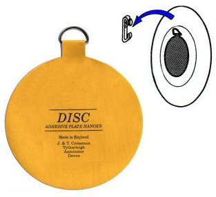 Invisible English Plate Hanger Disc-4 Inch (For Plates 8 to 12 Inches in Diameter)