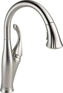 Delta Faucet 9192-AR-DST Addison Single Handle Water Efficient Pull-Down Kitchen Faucet, Arctic Stainless