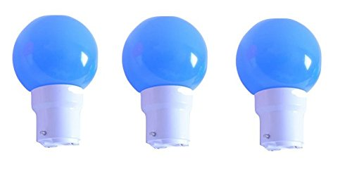 0.5 W LED Light Bulbs Blue (Set of 3)