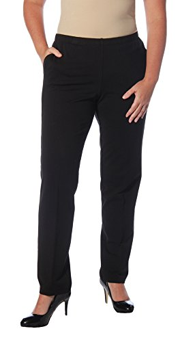Ruby Rd. Women's Pull-On Stretch French Terry Pants, Black, XL