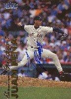 Juan Pena Pawtucket Red Sox - Red Sox Affiliate 1999 Fleer Tradition Autographed Hand... by Hall of Fame Memorabilia