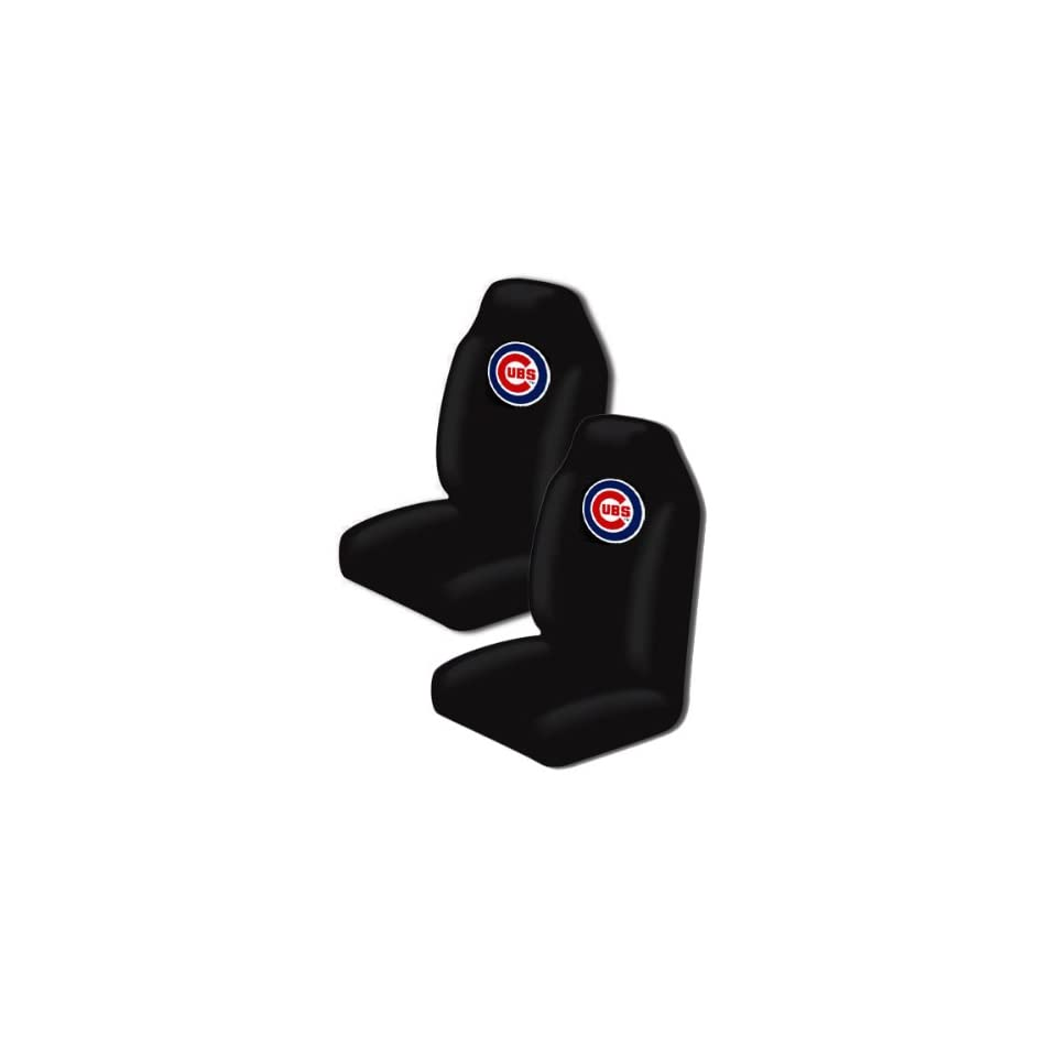 A Set of 2 MLB Major League Baseball Licensed Universal Fit Front Bucket Seat Cover   Chicago Cubs Automotive