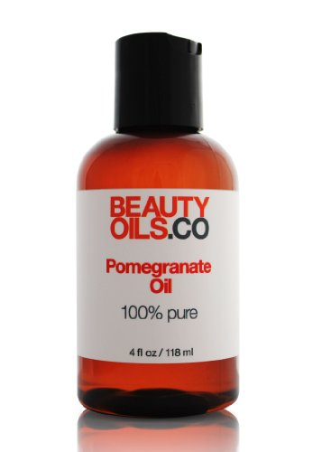 BEAUTYOILS.CO Pomegranate Seed Oil Moisturizer - 100% Pure Cold Pressed Beauty Face Oil (4 fl oz)