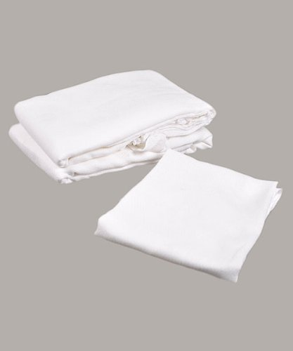 Big Oshi Flat-Folded Cloth Diapers - white, one size - 1