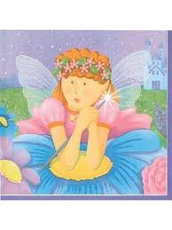 Fairy Princess Birthday Party Napkins - Fairy Princess Beverage Napkins - 16 Count - 1