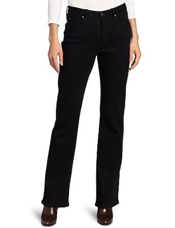 Pendleton Women's Black Denim Boot Jeans, Black Stretch Denim, 4