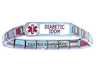 Diabetic IDDM (Insulin Dependent) Italian Charm Bracelet (Italian Dependent compare prices)