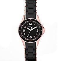 New Marc Jacobs Mbm2564 Black Silicone Rose Gold Womens Watch