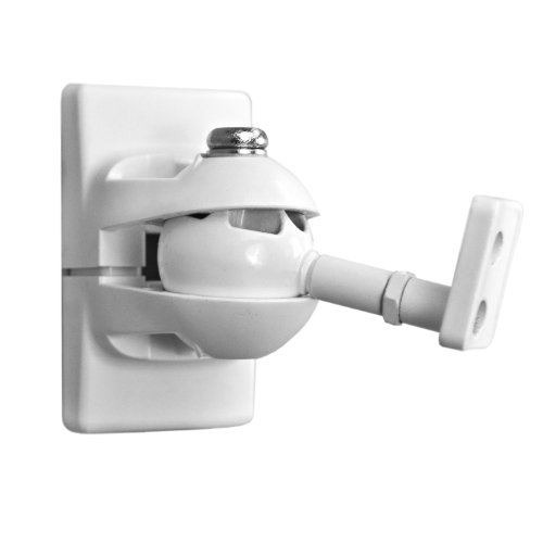 Pinpoint Mounts Am30-White Universal Wall Mount For Home Theater Speaker