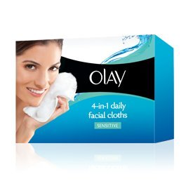 Olay Sensitive 4-In-1 Daily Facial Cloths, 33 Count (Pack Of 2) front-1002601
