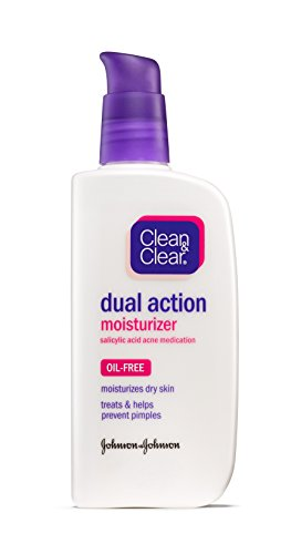 Clean & Clear Dual Action Moisturizer, 4 Fluid Ounce (Pack of 3)