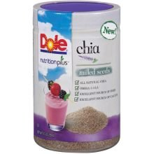 Dole Nutrition Plus Chia Milled Seeds, 9.5 Ounce Canister -- 6 Per Case.