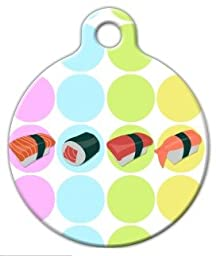 Sushi - Custom Pet ID Tag for Dogs and Cats - Dog Tag Art - LARGE SIZE