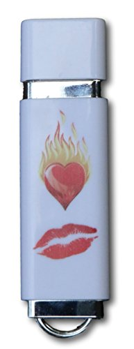 "Novelty USB Flash Drive ""Smoking Hot Love"" 16GB 2.0 USB Key, Stick, Jump, Pen Drive - Awesome Gift for Family, Friends and Colleagues"