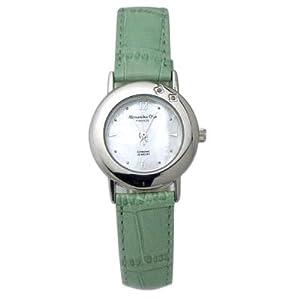 [アレサンドラオーラ]Alessandra Olla 腕時計 ダイヤ2石 AO-6900 GR レディース