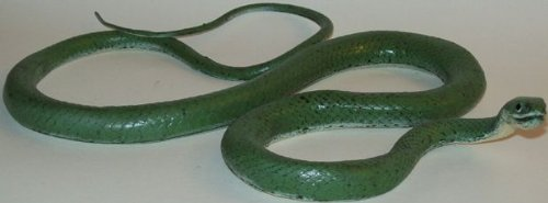 "Phil Seltzer Grass Snake - Lifelike Rubber Replica, 46"", Green"