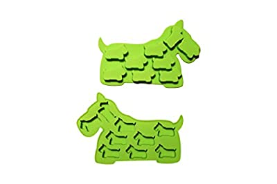 Dog Shaped Ice Tray & Candy Mold (2-Pack) Green Dog Shaped Flexible Silicone Ice Tray