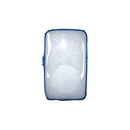 High Quality Amzer Transparent Zipper Case Light Blue For Ipod 4Th Gen Brand High Quality Protective Cover