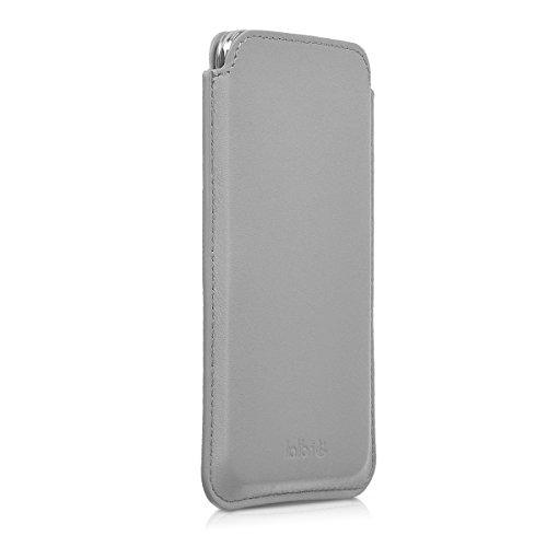 kalibri-Leder-Tasche-Hlle-fr-Samsung-Galaxy-S5-S5-Neo-S5-Duos-Handy-Case-Cover-Echtleder-Schutzhlle-in-Hellgrau